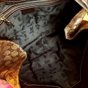 gucci Bags - GUCCI🌟AUTHENTIC GG WEB CRYSTAL HYSTERIA SATCHEL